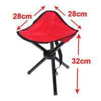 garden stool - Folding Portable Outdoor Camping Hiking Fishing Picnic Garden BBQ Stool Tripod Chair Seat H8079