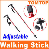 Wholesale Adjustable Telescopic AntiShock Trekking Hiking Walking Stick Pole quot to quot aluminum alloy H8080