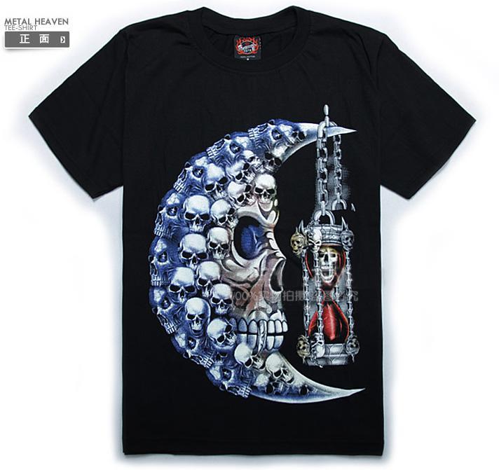 Fashion moon skull pattern luminous t shirt fluorescent for Buy t shirt designs online