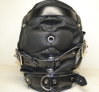 Wholesale kind photos Heavy Duty Leather Hood or Mask Leather peep masks hoods Head bondage