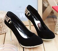 Wholesale Sexy Women s High Heel Shoes water proof black color size retail drop shipping wedding shoes