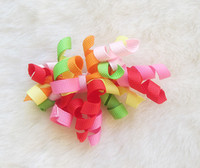 Wholesale 50pcs Children s Curlers Bows Flowers Hair Barrettes Childrens Korker Ribbon Hair Clip