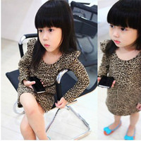 Wholesale Popular Children s leopard Shirts cute girl leopard long sleeve t shirt