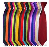 Wholesale 5pcs Multi Color Optional Polyester Men Neck Tie Skinny Solid Color Plain Satin Tie Wedding Business Accessories