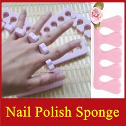 Wholesale 400pcs nail polish sponge nail art makeup tools sponge for finger and toe