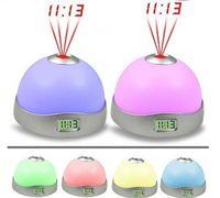 Wholesale 2012 New Products colour projection clock baby sleep LED lights Creative sleep clock