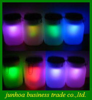 Wholesale Hot Moon Jar Solar power Led Mood Light Sensor Camp Lamp glass double colours moon sun