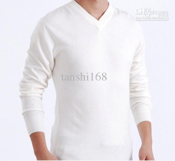 White Sweater Men White Men's Sweater Men's v