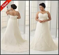 Reference Images Spaghetti Satin Puls Size Satin Bridal Dress Spaghetti Strap A Line Long Train Pleat Tight Corset Wedding Dresses