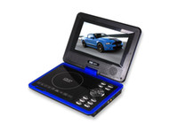 Wholesale new inch dvd palyer portable HD EVD support mp3 movie TV tuner Screen blue black red pink green