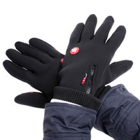Wholesale Black Windstopper Simulated Leather Windproof Soft Warm Outdoor Gloves M L XL H4982