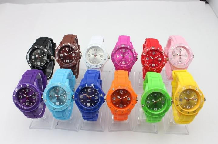 Watch Quartz Sports Wristwatches Silicone Candy Watches No Calendar ...