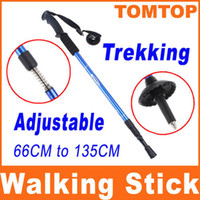Wholesale 135cm Adjustable Telescopic AntiShock Trekking Hiking Walking Stick Pole quot quot with straps H8081