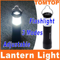 Wholesale 2 in W Portable Tent Camping Lantern Light Lamp led Flashlight Hiking Light Torch Aluminium H8082