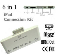 Wholesale New Arrival in Card Reader Camera Connection Kit for iPad2 iPad3 The New iPad amp