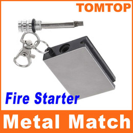 Wholesale Flints Metal Match Fire Starter Flint Gas Oil Permanent Outdoor Camping Lighter for cooking H8083