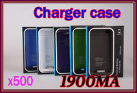 Wholesale 500pcs For iphone Battery Charger Case Portable Backup Battery mAh retail box RW PB02