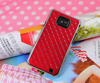 Wholesale Luxury diamond starry case Electroplate back cover protector cases for Galaxy S2 i9100
