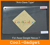 Wholesale anti glare matte Screen Guard Film Shield Cover for Asus Google Nexus W Retail Package MSP483A