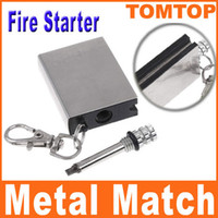 flint fire starter - Stainless steel Flints Fire Starter Flint Metal Match for camping survival cooking BBQ H8083