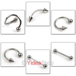 Wholesale 168pcs Bodyrings Body Jewelry piercing Stainless Tongue Pin Ear Plug Belly Navel Eyebrow Nail