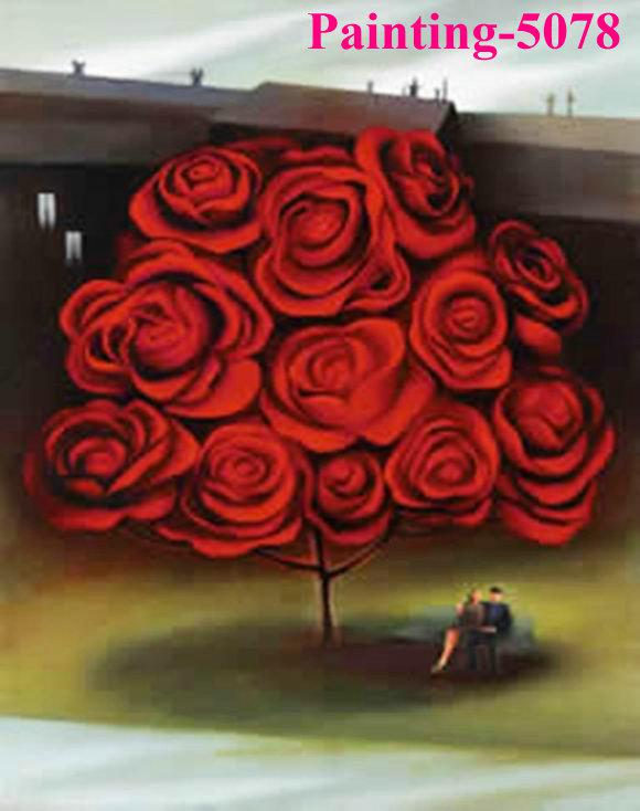 Oil Tree Paintings Abstract Oil Painting Rose