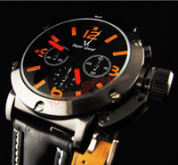Wholesale 2012 of the most popular big dial V6 high grade fashionable men and women leather watches