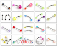 Cheap 168 Piercing ACRYLIC Stainless Body Jewelry Tongue Pin Ear Plug Belly Navel Eyebrow Nail 260549