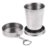 Glasses, Cups and Mugs stainless steel travel mug - Stainless Steel Portable Mini Travel Retractable Cup Keychain Folding Collapsible Cup S H8088S