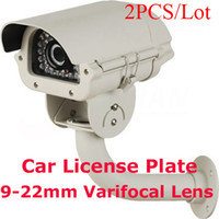 Wholesale 2PCS Surveillance CCTV Car License Plate IR Security Camera TVL mm Varifocal Lens