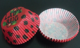2014 500pcs ladybug with black dot red color cupcake baking paper cup muffin cases for party