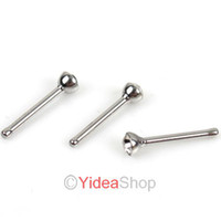 Wholesale 160pcs Hot Round Body rings Body Jewelry piercing Stainless White Rhinstone Nose Studs mm