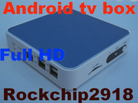 Wholesale Google Android TV Box Rockchip2918 WIFI p online video multimedia player IPTV set top box