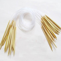 Wholesale Hot selling quot cm Circular Smooth Bamboo Knitting Needles Pins Sets mm mm