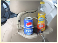 Wholesale Car Seat Multi Tray mount Food table meal Desk Stand Drink Cup Holder Folding car tray high quality