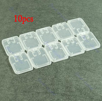 Wholesale 10pcs TF Micro SD SDHC Memory Card Plastic Case White