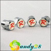 Wholesale White R MINI Metal Hub Tire Tyre Valves Cap Valve Wheel Air Dust Cap Caps Car Badges Nice Car Parts From Andy_8 Mix Ordres