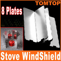 Wholesale 8 Plates Fold Foldable Outdoor Camping Cooker Stove Wind Shield Screen for Camping Picnic H8145