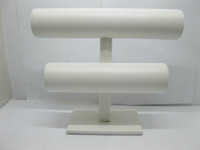 Wholesale New Tier White Leatherette Watch Bracelet Jewelry Display Stand Holder Rack Freeshipping