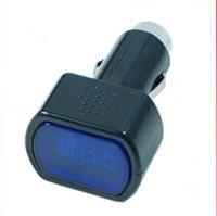al por mayor de vía métrica voltaje de la batería-Medidor de voltio libre del calibrador del voltaje del voltímetro de la batería del sistema del carro del coche de Digitaces LED del envío 12V 24V