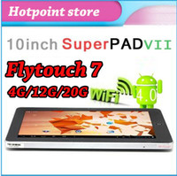 Wholesale 10 quot Inch Flytouch Android GPS Tablet pc GB GB GB A10 GHz Superpad HDMI not A13