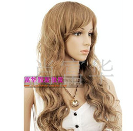 Wholesale Wigs Wig hair Hair pieces Hair extensions Reality pats Qi Liuhai A long roll Fluffy curls hot