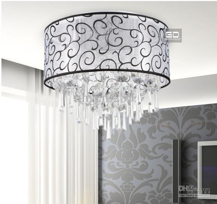 Warm Bedroom Lamps Beautiful Auspicious Clouds Round Yarn Fabric Ceiling  Lighting Crystal Lamps Online With $200.58/Piece On Tinger3280u0027s Store |  DHgate.com