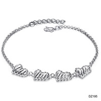 Wholesale Platinum Plated anklet love shape hollow out beach Ankle chain new come stly DZ195