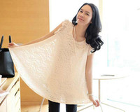 Wholesale Two color Black Rice white MATERNITY CLOTHES Sleeveless Lace maternity dress