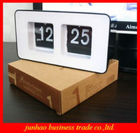 Digital abs alarm - Creative Novelty Retro Auto Flip Desk Digital Alarm Clock ABS Material High Quality Table Clock