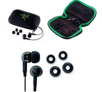Wholesale cheap High quality Razer Moray M100 hifi Stereo Gameing Earphones headphone headset handfree in beg