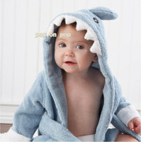 Wholesale Modelling bag baby hooded bathrobe bath towel bath terry bathing robe for kids infant