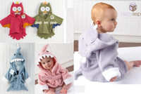 Wholesale PROMOTION baby hooded bathrobe bath towel bath terry bathing robe for children kids infant