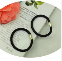 Wholesale hair accessories hair jewelry hair rope Black high elastic bands Horsetail bunch of hair